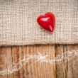 Background with heart in vintage style on St. Valentines day lo — Stock Photo #77921564
