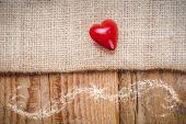 Sfondo con cuore in stile vintage su San Valentino lo — Foto Stock