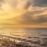 Beautiful sunset over the Tyrrhenian sea — Stock Photo #78444764