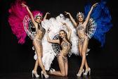 Women in carnival dresses — Stock Photo