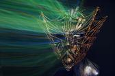 Ancient scary metallic mask — Stok fotoğraf