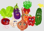 Collection of vegetables — Stock Vector