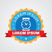 Time vintage badge, label ico — Vetorial Stock