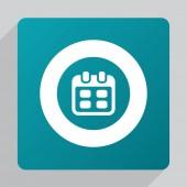 Flat calendar ico — Stock Vector