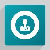 Flat doctor ico — Stock Vector