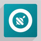 Flat whirligig ico — Vector de stock