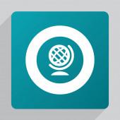 Flat globe ico — Stock Vector