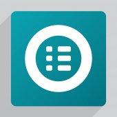 Flat list ico — Stock Vector