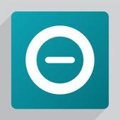 Flat minus ico — Stock Vector