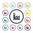 Factory flat icons se — Stock Vector #56172547
