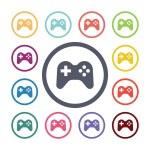 Joystick flat icons se — Stock Vector #56175421
