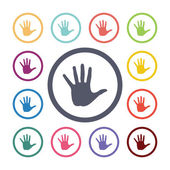 Hand flat icons se — Stock Vector