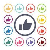 Ok flat icons se — Stock Vector