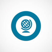 Globe bold blue border circle ico — Stock Vector