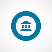 Court law bold blue border circle ico — Stock Vector