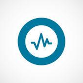 Ico del cerchio di impulso bordo blu grassetto — Vettoriale Stock