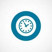 Time bold blue border circle ico — 图库矢量图片
