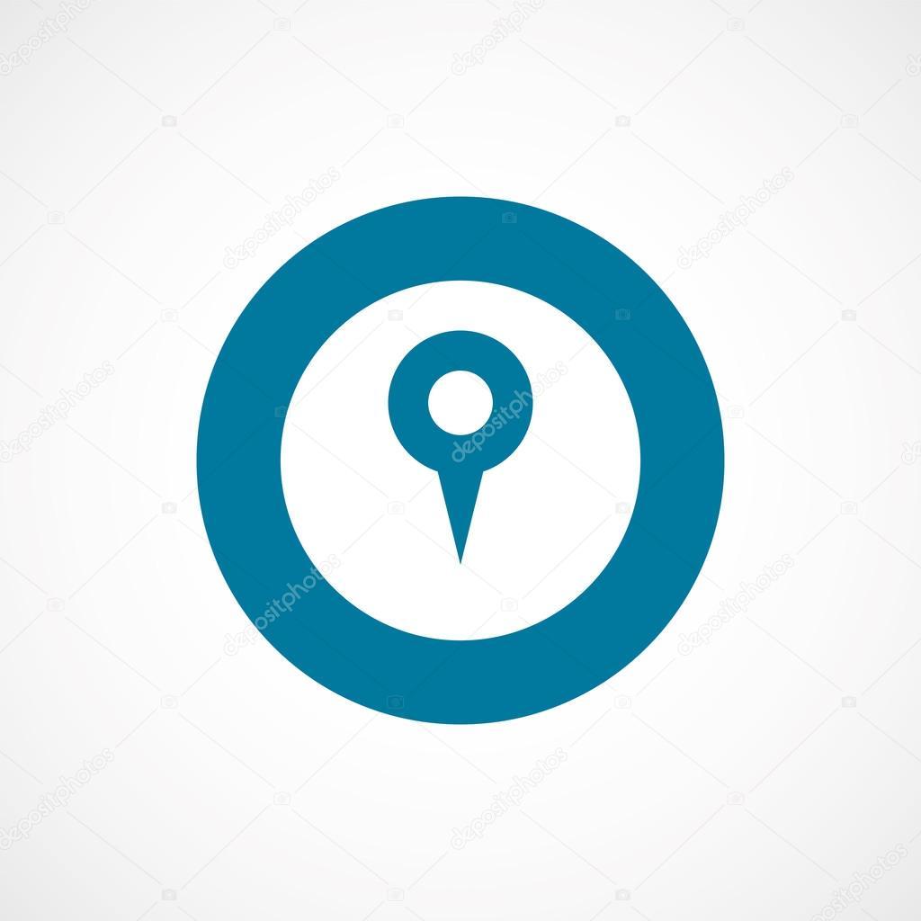 地图别针粗的蓝色边框圆 ico — 图库矢量图像08