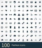 100 fashion icons se — Stock Vector