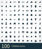 100 clothes icons se — Stock Vector