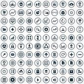 100 big data, database icons se — Stock Vector