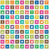 100 drinks icons se — Stock Vector