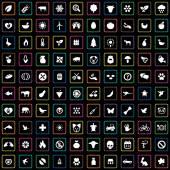 100 ecology icon — Stock Vector