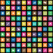 100 UI Icons For Web and Mobil — Vetor de Stock