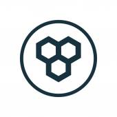 Honeycomb circle background ico — Stockvektor