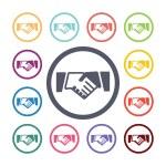 Handshake flat icons se — Stock Vector #56362975