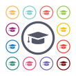 Education flat icons se — Stock Vector #56363459