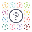 Ear flat icons se — Stock Vector #56363521