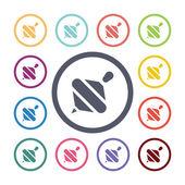 Whirligig flat icons se — Stock Vector
