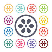Flower flat icons se — Vetorial Stock
