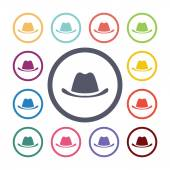Hat flat icons se — Stock Vector