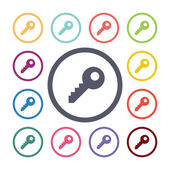 Key flat icons se — Stock Vector