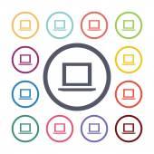 Laptop flat icons se — Vetorial Stock