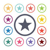 Star flat icons se — Stock Vector