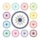 Sun flat icons se — Vetorial Stock