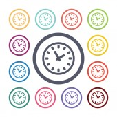 Watch flat icons se — Stock Vector