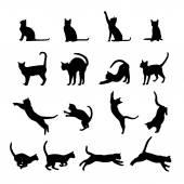 Silhueta de gato — Vetorial Stock