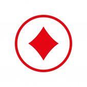 Diamonds card ico — Wektor stockowy