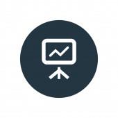 Chart grow board ico — Vetorial Stock