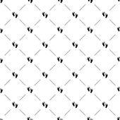 Vector seamless pattern, footprint — Stock Vector