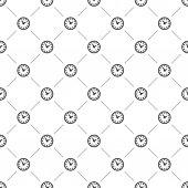 Vector seamless pattern, watch — Vetor de Stock