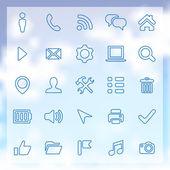 25 ícones de contorno de interface do usuário para web e mobile — Vetor de Stock