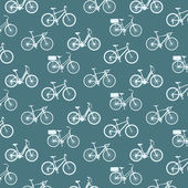 Bicycles vintage pattern — Stock Vector