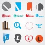 Set of alphabet symbols of letter L — Stock Vector #57221597