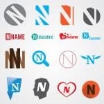 Set of alphabet symbols of letter N — Stock Vector #57221619