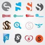 Set of alphabet symbols of letter S — Stock Vector #57221711